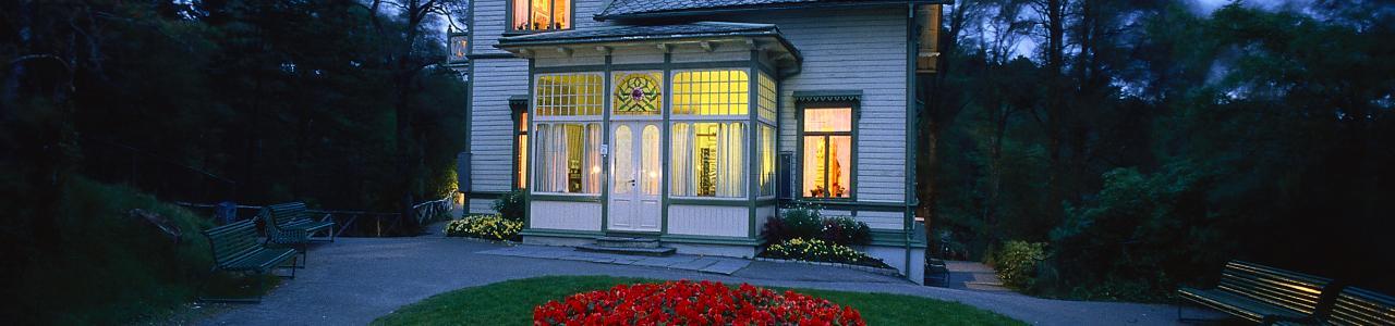Edvard Grieg's Villa at Edvard Grieg Museum Troldhaugen (photo by Oddleiv Apneset/ Bergen Tourist Board).